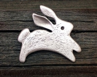 Bunny Pewter Pin | Rabbit Pin | Cute Pin | Bunny Brooch | Rabbit Brooch | Bunny Jewelry | Rabbit Jewelry | by Treasure Cast Pewter