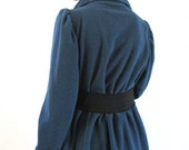 PROVOCATEC by BASIA Blue Lightweight Pouf Sleeve Jacket with Pockets -Free Shipping in U.S.