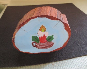 Hand Painted Candle - 4x3.5x 1 inch