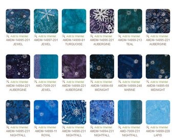 Artisan Batiks Noel by Lunn Studios, complete collection 5 inch square Charm Squares