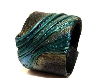 40% OFF Sale Elegant fashion leather bracelet Cuff Leather jewelry Wide fashion wristband leather jewelry