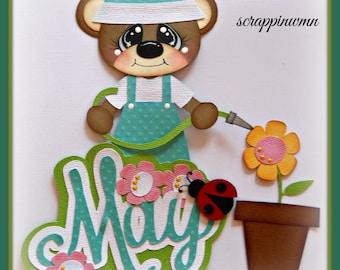 Premade Handmade Spring Scrapbook Paper Piecing Title Elite4u