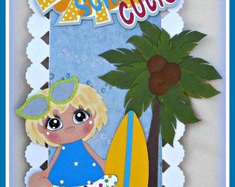 Summer Beach Premade Handmade Scrapbook Paper Piecing Border Elite4u Girl