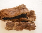 Vintage lot of REAL FUR pieces scraps for crafting