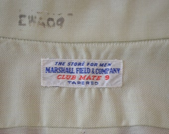last chance Vintage 1960's Marshall Field & Company mens shirt button down tapered Club Mate 9