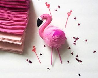 Flamingo Cake Topper - Frankie
