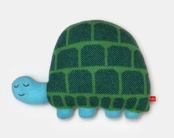 Hector the Tortoise Lambswool Plush Toy - Made to order