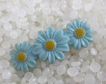 vintage  barrette blue daisy