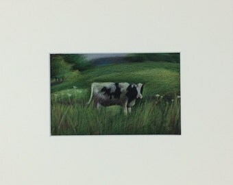 Cow in Field - Print