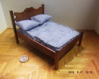 One Inch Scale Double Bed