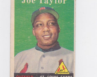 1958 Joe Taylor Topps # 451  baseball card