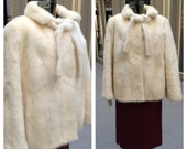 Stunning Mid-Century White Mink Jacket or Cape
