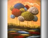 "acrylic art painting original contemporary modern abstract painting 28"" original wall art"
