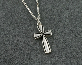 "JUBILEE CROSS Necklace in Sterling Silver, includes 18"" chain"