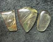 Reserved listing for Tina. Rutilated quartz freeform cabochons