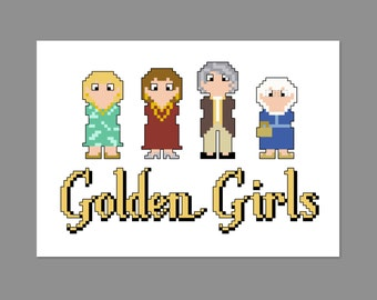 Golden Girls Pixel People Character Cross Stitch PDF PATTERN ONLY