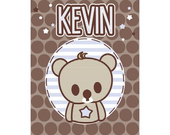 Boys Personalized Name Print Kevin