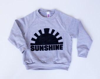 unisex kids graphic sweatshirt, toddler boys, boys tops, toddler girls, girls tops, sunshine, black sunshine, preschool, back to school