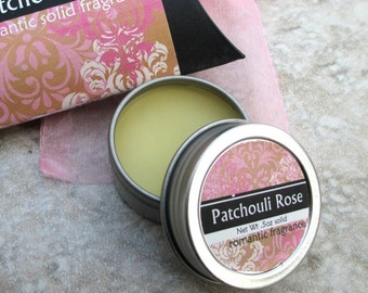Patchouli Rose Solid Perfume, Natural perfume, purse friendly screw top tin