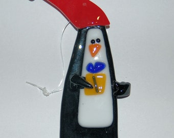 Penguin Bearing Gifts Ornament