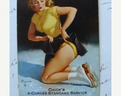 20PercentOff Vintage 1950s Kitsch Pin ups Ice Skaters Winter scene Playing Trade Cards Lot