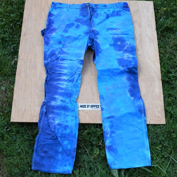 The Blues Tie Dye Jeans (Dickies Painters Pants Size 42x34) (One of a Kind)