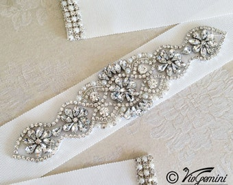 Wedding Sash Belt, Bridal Belt, Sash Belt, Wedding Dress Sash, Crystal Rhinestone Belt, Bridal Sash