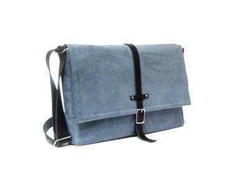 """13"""" / 15"""" / 17"""" MacBook Pro messenger bag - smoky blue"""