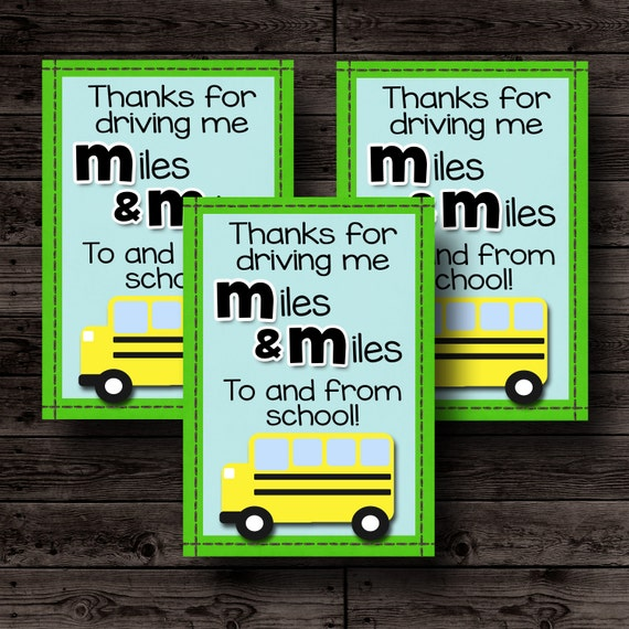 bus driver appreciation card print | just b.CAUSE