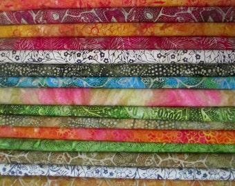 Island Sun Batik Half Yard Fabric Bundle - Moda