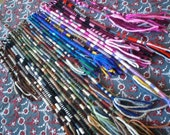 Ready To Ship Striped Thin Hair Wrap Extension Yarn Atebas Single Ended SE Loop Braid In Dread Accessory Many Rainbow Colors Available Sets