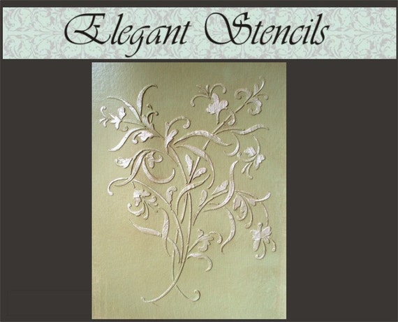Design Stencils For Walls: Raised Plaster Stencil Mystic Wall Stencil Painting Stencil