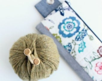 BOB JONES ---x--- The Pattern + Tutorial for our unique Knitting Needle pouch