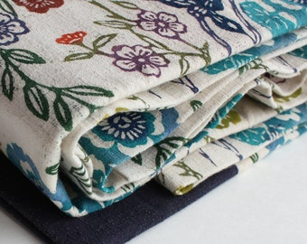Vintage Obi Fabric ---x--- rare handprinted Japanese Obi fabric