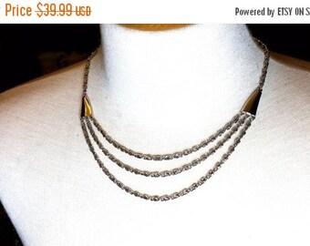 50% OFF Trifari Silver Tone Multi Chain Vintage Necklace