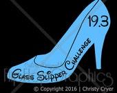 Disney Glass Slipper Challenge 19.3 Miles, Vinyl Graphic Sticker