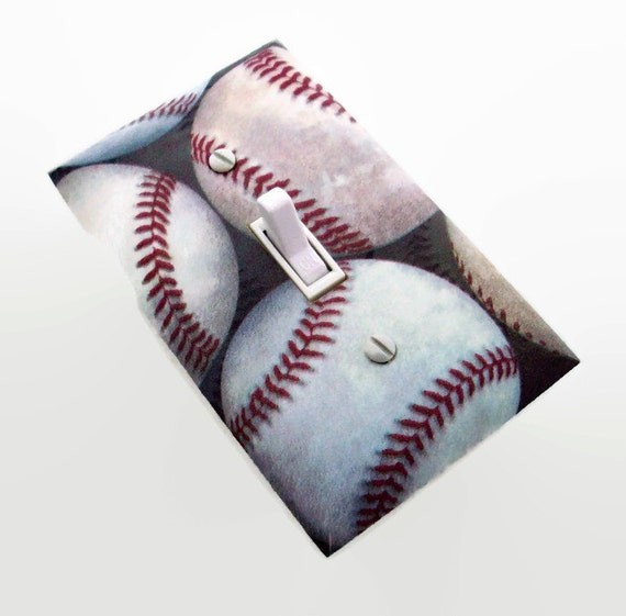 Baseball Light Switch Cover Baseballs Switch Plate Cover