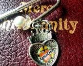 AGNUS DEI heart pearl shepherds hook BOOKMARK religious