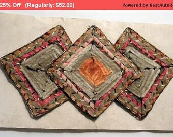 Surprise SALE - Amazing Antique Edwardian Applique Silk Metallic Chenille Trim