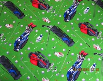 GOLF FABRIC MOTIFS Rare Fabric Elizabeth's Studio  - 1 yard - #M34