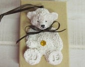 Belly Button Birthstone Bears Polymer Clay Teddy Bear Ornaments Personalized