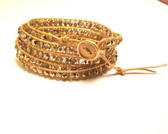 Wrap bracelet - Gold on Gold