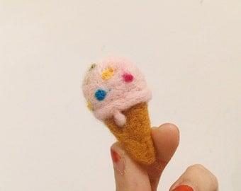 Lovely strawberry ice cream pin