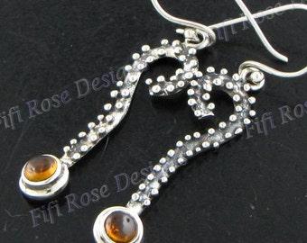 "1 1/16"" Designer Tourmaline 925 Sterling Silver Earrings"