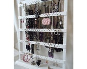 "Earring Holder, Jewelry Organizer, Earring Stand Earring Display Necklace Display, White Elegant Earring Rack, ""You Choose The Base Style"""