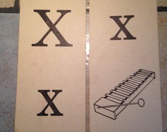 Xx xylophone Phonics Teaching Cards