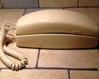 1991 Ivory Trimline Touch Tone Telephone