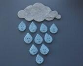 Ten Little Raindrops Felt Set