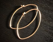 Oval Hoops - gold fill