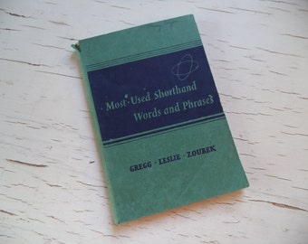 Vintage Most Used Shorthand Words and Phrases